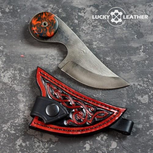 Комплект ніж і чохол Beaver Claw Black and Red