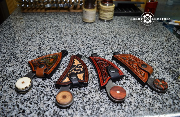 New! Knife and Scabbard Set Beaver