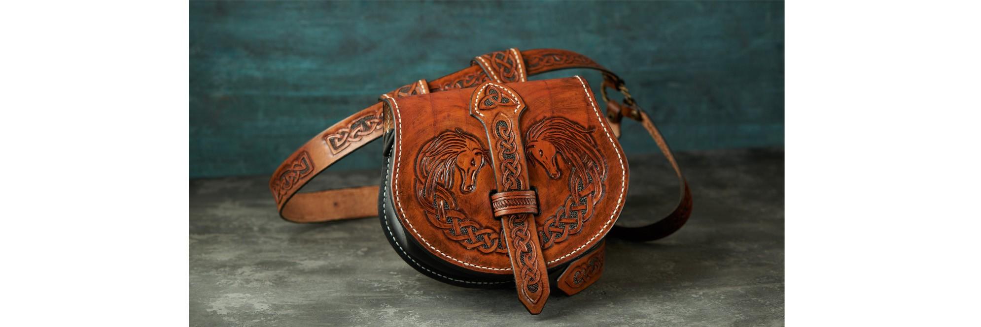 Leather Handmade Embossed Bags